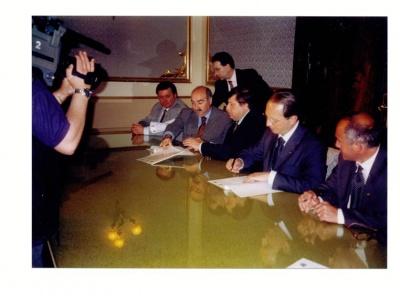 Firma Accordo Parchi Nazionali Argentini e Provincia di Salerno e Parco NCVD, Salerno maggio 2002