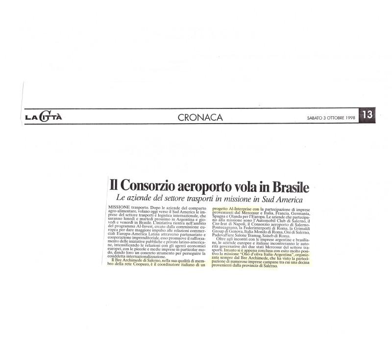 La Citta  ott 1998 Al trasporti e Missione Olio di oliva 001